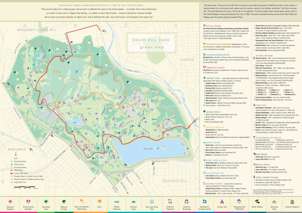 Druid Hill Park Map